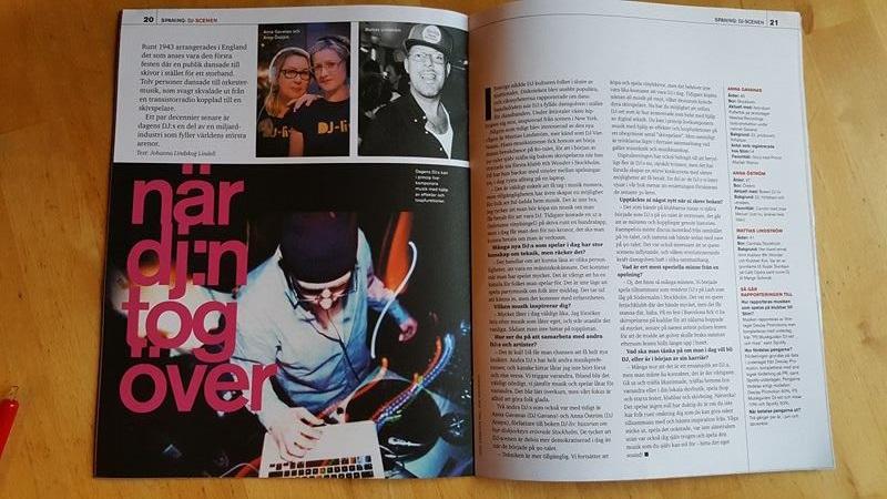 Boken DJ-liv i senaste numret av STIM!